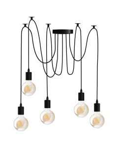 Lampa wisząca sufitowa ARANE PAJĄK 5 ramion do LED 5x E27 LUMILED