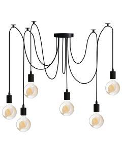 Lampa wisząca sufitowa ARANE PAJĄK 6 ramion do LED 6x E27 LUMILED