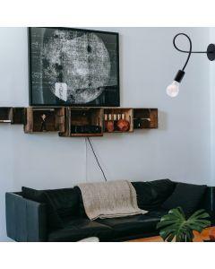 Lampa sufitowo-ścienna NODUM SKRĘT czarny do LED 1x E27 LUMILED