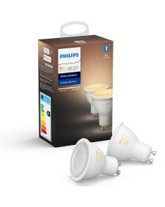 2PAK  Żarówka LED GU10 5W Philips HUE White Ambiance Bluetooth Zigbee 8718699629298