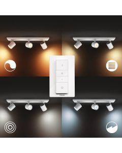 Philips HUE RUNNER Oprawa 3xReflektor SPOT LED Biały 3xGU10 + Ściemniacz ZigBee + Bluetooth 53093/31/P6