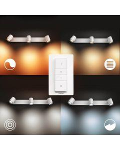 Philips HUE Adore Łazienkowy Reflektor SPOT Punktowy 3xGU10 Biały + Ściemniacz ZigBee + Bluetooth 34180/31/P6
