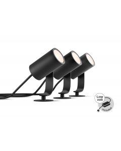 Philips HUE LILY Reflektor ogrodowy spot 3x 8W Zestaw 17414/30/P7 8718696167960