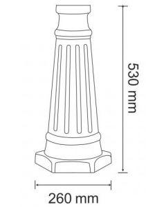 Podstawa aluminiowa do lampy ogrodowej  PARIS2 wiśnia 53cm POLUX
