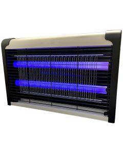 Lampa Owadobójcza UV 6W 40m2 na komary, ćmy, muchy, osy Wisząca czarno-biała