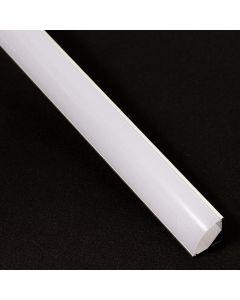 Profil aluminiowy narożny C anodowany KM55 do taśm LED z Kloszem Mlecznym - 1m