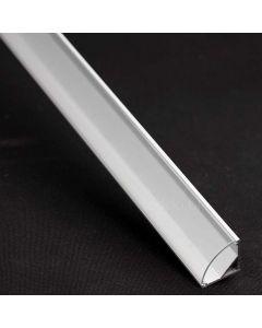 Profil aluminiowy narożny C anodowany KM55 do taśm LED z Kloszem Przeźroczystym - 1m