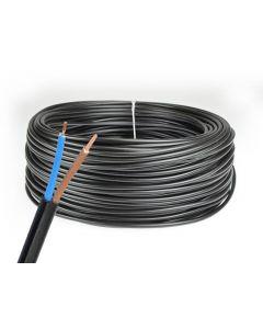 Przewód Kabel OMY 2x0,5mm LINKA CZARNY 1 METR
