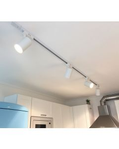 Łącznik liniowy szynoprzewodów biały do reflektorów szynowych