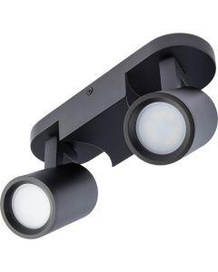 Oprawa sufitowa reflektor spot KINIA 2x GU10 natynkowa czarna ruchoma BOWI