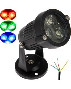 Reflektor halogen ogrodowy LED 3W 12V RGB Multikolor Ip65