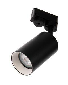 Reflektor Szynowy GU10 CZARNY do Szynoprzewodów + Biały Pierścień