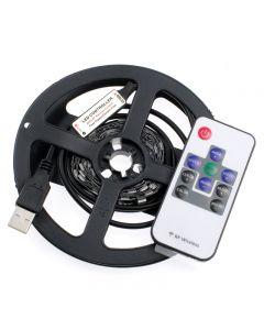 Taśma LED-USB-5050 9,6W 2m 40 LED IP33 RGB 5V + PILOT RF