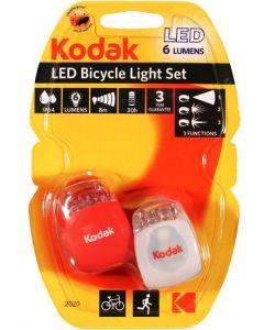 2x LAMPKA rowerowa LED  LATARKA 6 LM IP64 PRZÓD TYŁ KODAK