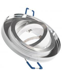3x Oprawa Halogenowa Szklana ARIAN Okrągła Ruchoma Przezroczysta + GU10 LED 6W 6000K