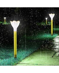 Lampa ogrodowa LED solarna wbijana TULIPANEK żółty Polux