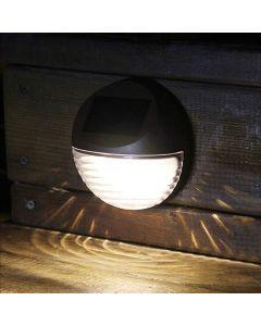 Lampa ogrodowa LED schodowa elewacyjna solarna czarna 6500K zimna Polux