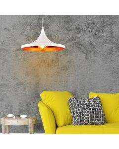 Lampa Wisząca Sufitowa Żyrandol IL MIO MODERN P-306A E27 Biało-Złota - Polux