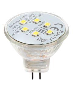 Żarówka LED GU4 MR11 1,8W = 16W 150lm 3000K Ciepła 120° 12V POLUX