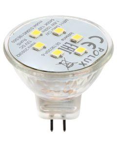 Żarówka LED GU4 MR11 1,8W = 16W 150lm 6400K Zimna 120° 12V POLUX