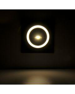 Lampa oprawa schodowa podtynkowa LED 3W 20lm IP44 4000K grafit kwadrat Q3 Polux