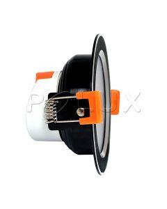 Oprawa podtynkowa okrągła VENUS LED czarna 7W 470lm ciepła 3000K POLUX