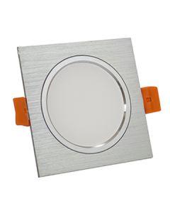 Oprawa podtynkowa kwadratowa VENUS LED srebrna 7W 570lm ciepła 3000K POLUX