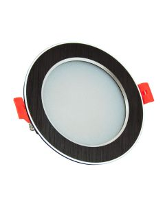 Oprawa podtynkowa okrągła VENUS LED czarna 12W 810lm ciepła 3000K POLUX