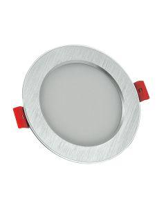 Oprawa podtynkowa okrągła VENUS LED srebrna 12W 810lm ciepła 3000K POLUX