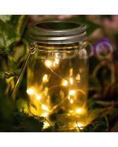 Lampa ogrodowa LED solarna wisząca LATARENKA SŁOIK 3000K szklana Polux