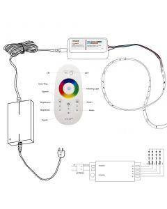 Zestaw Taśma LED 72W SMD 5050 300 LED IP20 5m RGB+CW + sterownik RGBW z pilotem + Zasilacz