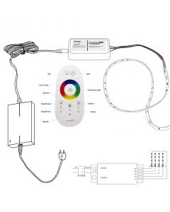 Zestaw Taśma LED 72W 300LED SMD 5050 IP20 5m RGB + Sterownik z Pilotem + Zasilacz