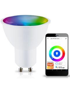 Żarówka SMART LED Inteligentna Ściemnialna GU10 5W RGB WW WIFI TUYA Kobi