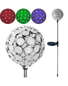 Lampa ogrodowa LED RGB SOLARNA Wbijana 8cm Plaster VOLTENO 70cm