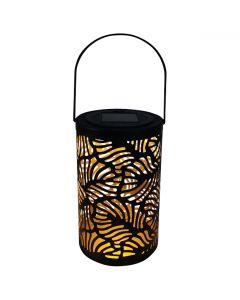 Lampa LATARENKA LED ogrodowa LED solarna czarna wisząca Polux
