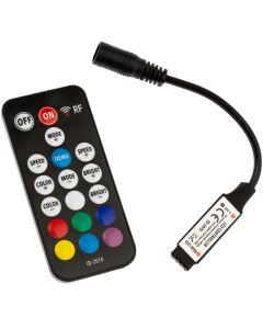 Sterownik RGB LED radiowy 72W 6A 18 przycisków + PILOT RF 5V~24V DC ID-2070 czarny