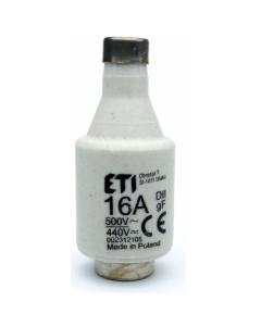 Bezpiecznik topikowy 16A Wkładka topikowa D2/GF/16A/500V