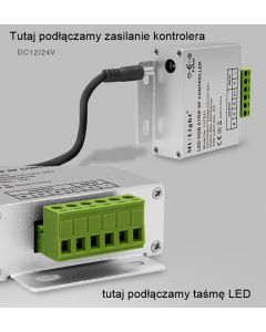KONTROLER Sterownik do TAŚM LED RGB + Pilot RF Mi-Light - FUT042 Black