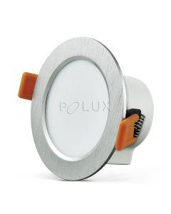 Oprawa podtynkowa okrągła VENUS LED srebrna 7W 470lm ciepła 3000K POLUX