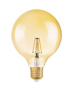 Żarówka LED E27 GLOBE 7.5W = 55W 650lm G125 2500K ŚCIEMNIALNA OSRAM VINTAGE 1906