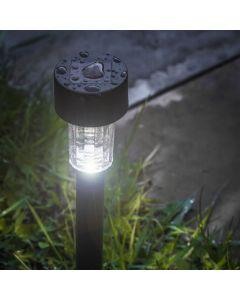 Zestaw 14x Lampa Ogrodowa LED Solarna Wbijana Czarna Volteno