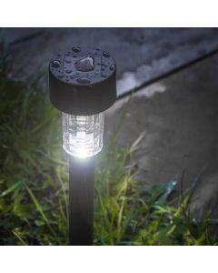 Lampa Ogrodowa LED Solarna Wbijana Czarna Volteno