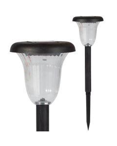 Lampa Ogrodowa LED SOLARNA czarna wbijana 6000K zimna biała 41cm