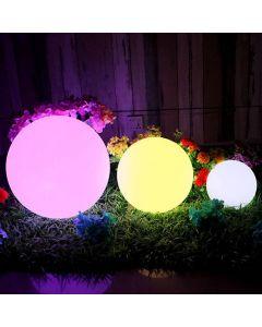 Lampa Ogrodowa LED Solarna Wbijana RGB Kula do ogrodu NAZIEMNA 17cm + pilot VOLTENO