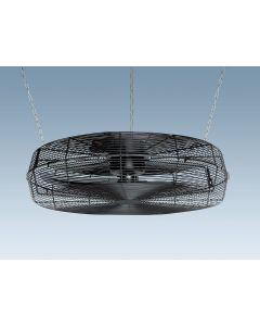 WENTYLATOR sufitowy przemysłowy wiatrak 350W 83,5 cm IP54 FENNE z siatką czarny