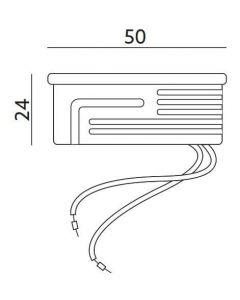 Wkład do Opraw LED Moduł INSERT Mleczny 7W 670lm 3000K 120° LUMILED