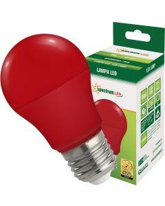 Żarówka LED E27 A60 5W Czerwona 270° SPECTRUM Dekoracyjna
