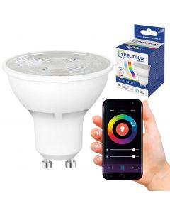 Żarówka LED HALOGEN GU10 5W 480lm RGB+CCT SPECTRUM Smart TUYA WiFi Ściemnialna