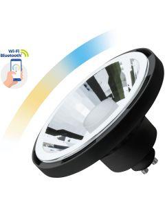 Żarówka LED GU10 AR111 10W 1050lm CCT SPECTRUM Czarna Smart TUYA WiFi Ściemnialna
