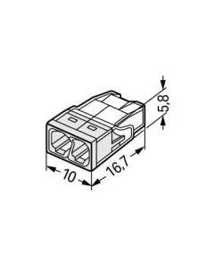 Złączka instalacyjna 2x2,5mm 2273-202 WAGO
